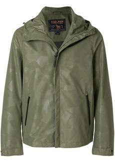 Woolrich geometric patterned hooded jacket