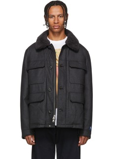 Woolrich Grey Down Loro Piana Stag jacket
