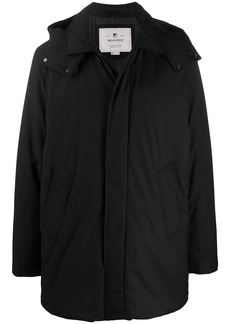 Woolrich hooded single-breasted coat