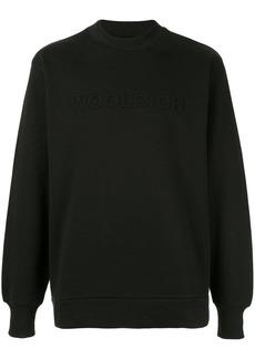Woolrich logo crew neck sweatshirt