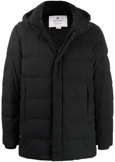 Woolrich logo embroidered padded coat