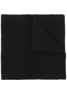Woolrich logo patch knitted scarf