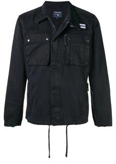 Woolrich logo patch shirt jacket