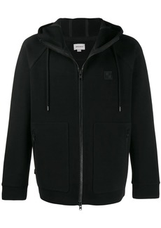 Woolrich logo patch zip-up hoodie