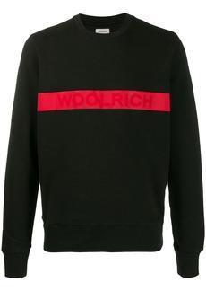 Woolrich logo stripe sweatshirt