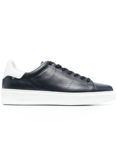 Woolrich perforated low-top leather sneakers