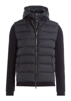 Woolrich Puffer Coat with Contrast Sleeves