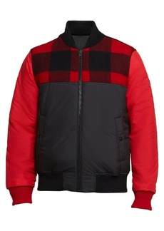 Woolrich Reversible Wool-Blend Bomber Jacket
