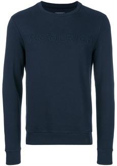 Woolrich textured logo sweatshirt