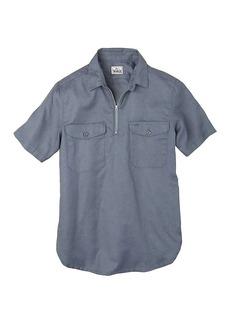 Woolrich Men's Cotton Linen Half Zip Popover