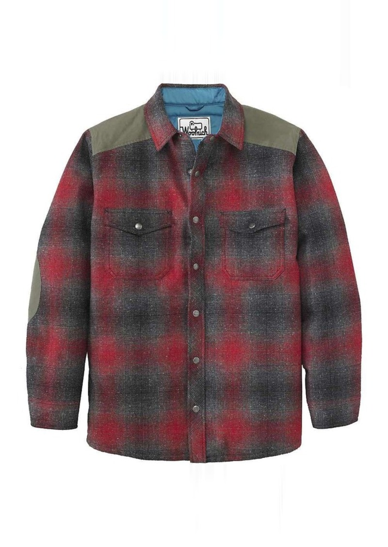 Woolrich Woolrich Mens The Mix Up Wool Quilted Shirt Jacket