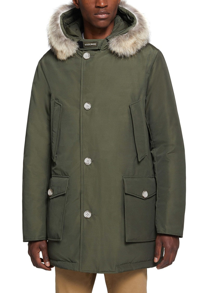 Woolrich Arctic Water Repellent Parka with Genuine Coyote Fur Trim
