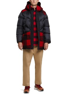 Woolrich Arctic Waterproof Reversible Wool & Down Puffer Hooded Coat