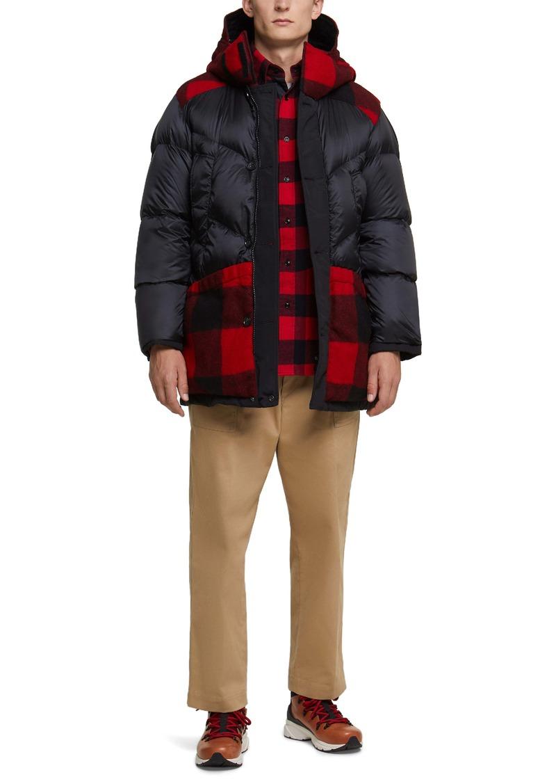 Woolrich Arctic Waterproof Reversible Wool & Down Puffer Hooded Coat