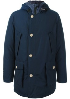 Woolrich buttoned hooded coat - Blue