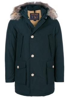 Woolrich fur embellished parka coat - Blue