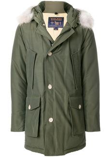 Woolrich fur-trim parka coat - Green