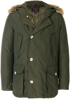 Woolrich fur-trimmed hooded coat - Green