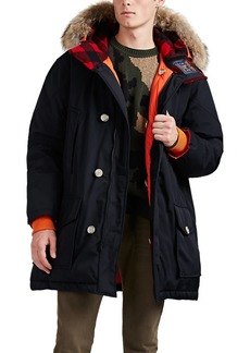 Woolrich John Rich & Bros. Men's Atlantic Reversible Fur-Trimmed Down Parka
