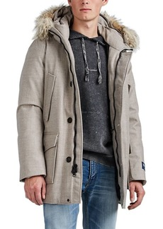 Woolrich John Rich & Bros. Men's Fur-Trimmed Wool Down Parka