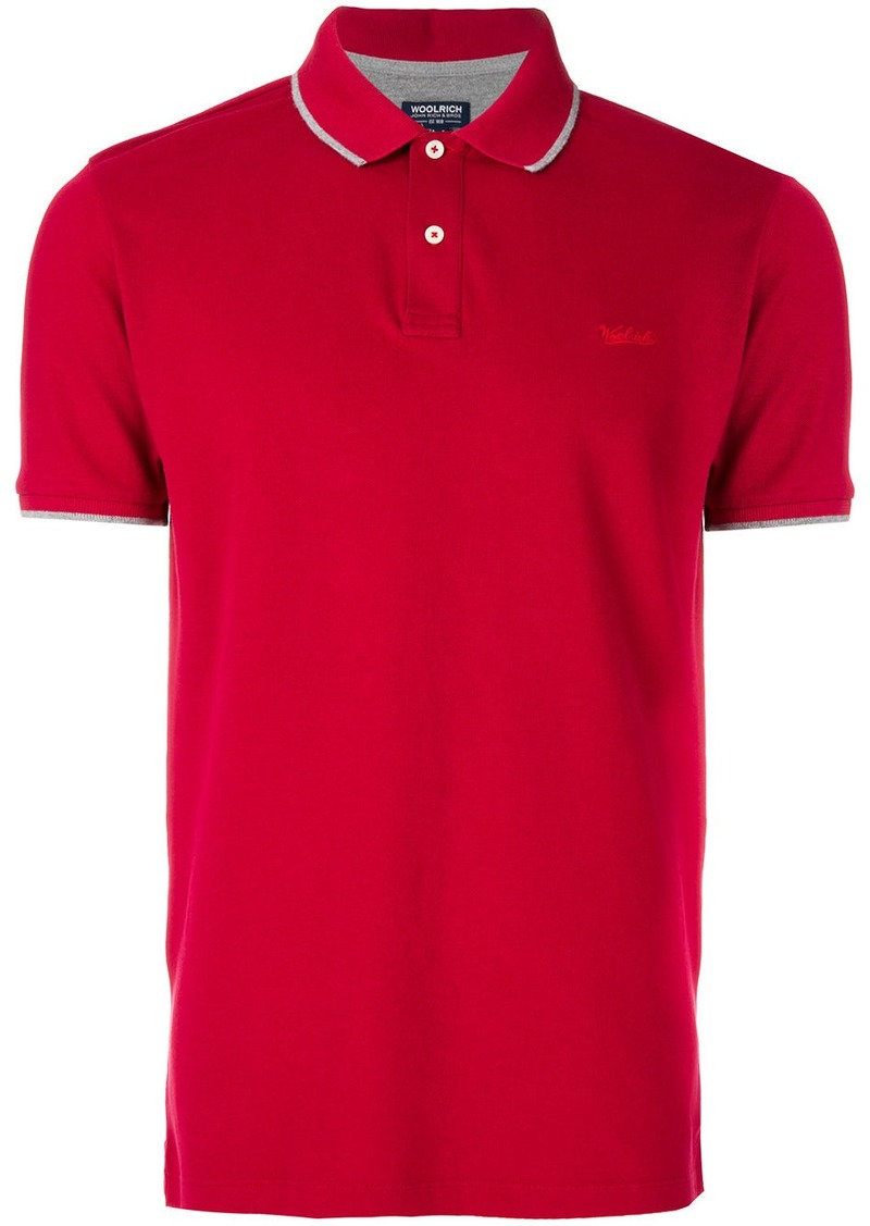 Woolrich Logo Embroidered Polo Shirt Now 6200