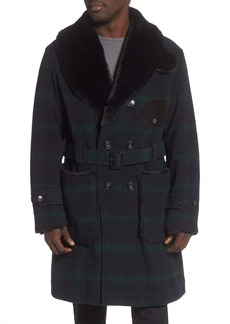 Woolrich Mackinaw Faux Fur Collar Coat