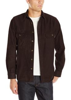 Woolrich Men's Expedition Chamois Shirt Modern Fit Dark Walnut