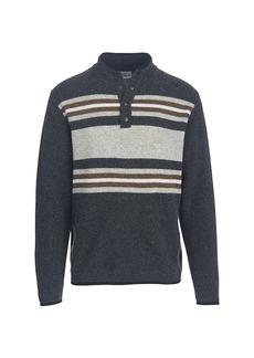 Woolrich Men's Half Snap Blanket Sweater