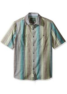 Woolrich Men's Lost Lakes Chambray Stripe Ii Modern Fit Shirt