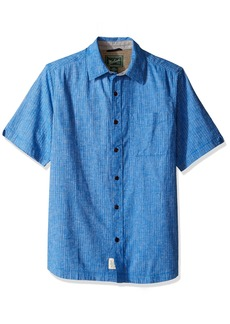 Woolrich Men's Mainroad Eco Rich Modern Fit Short Sleeve Shirt  Small
