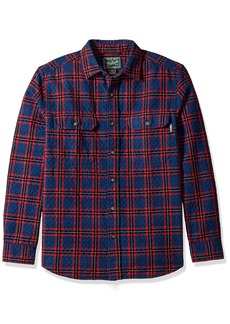 Woolrich Men's Old Valley Double Cloth Quilted Plaid Shirt  XXLarge