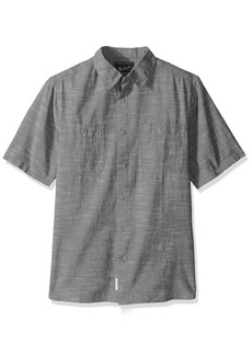 Woolrich Men's Lost Lakes Chambray Modern Fit Shirt  Large