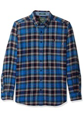Woolrich Men's Tall Size Trout Run Flannel Shirt Long  Extra Large