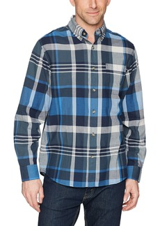 Woolrich Men's Timberline Long Sleeve Shirt deep Indigo Plaid