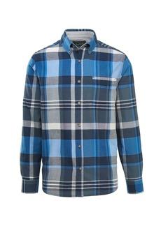 Woolrich Men's Timberline Long Sleeve Shirt Modern Fit deep Indigo Plaid