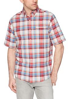 Woolrich Men's Timberline Short Sleeve Shirt Old red Tartan