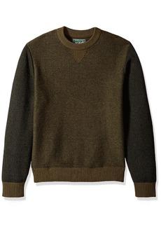 Woolrich Men's Twill Colorblock Merino Sweater