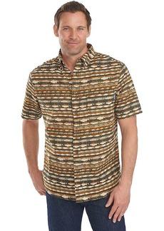 Woolrich Men's Walnut Run Print SS Shirt