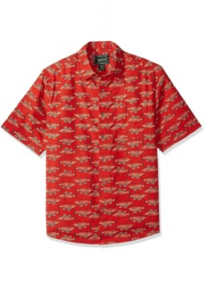 Woolrich Men's Walnut Springs Printed Shirt Cactus red