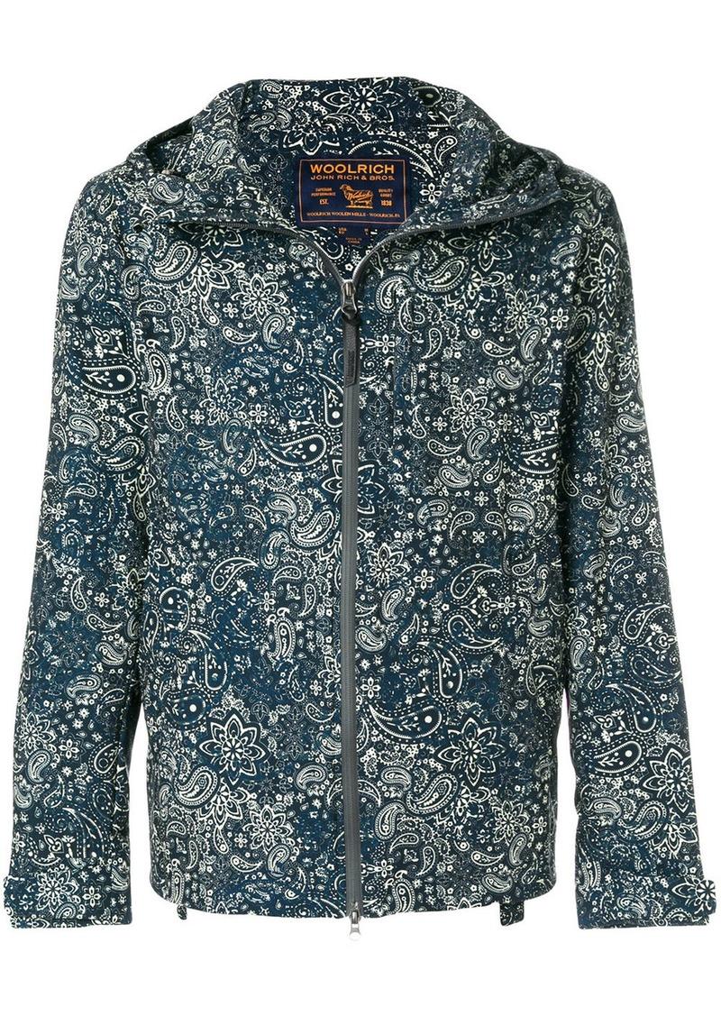 Woolrich paisley print hooded jacket