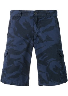 Woolrich printed cargo shorts - Blue