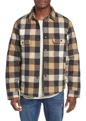 Woolrich Quilted Wool Check Shirt Jacket