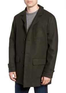 Woolrich Regular Fit Melton Wool Blend Coat