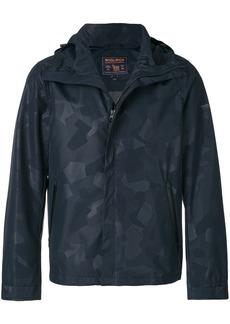 Woolrich short hooded coat - Blue