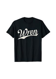 Wren Name Retro Vintage Wren Given Name T-Shirt