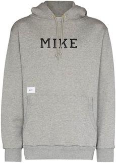 WTAPS Academy print drawstring hoodie