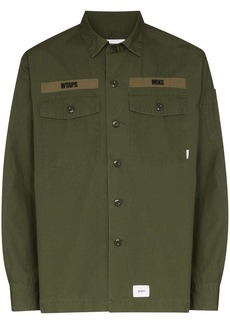WTAPS Buds logo-print shirt jacket