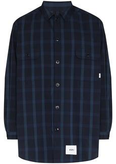 WTAPS check-pattern long-sleeve shirt