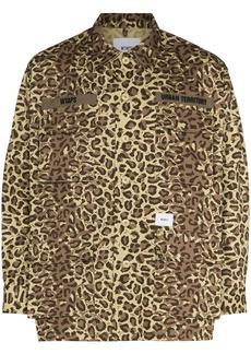 WTAPS leopard-print shirt
