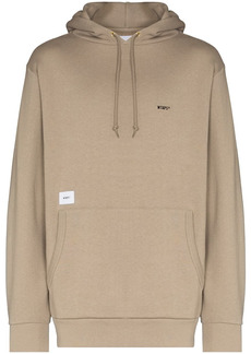 WTAPS logo patch brushed hoodie